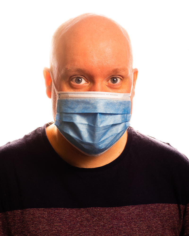Me, in a surgical mask